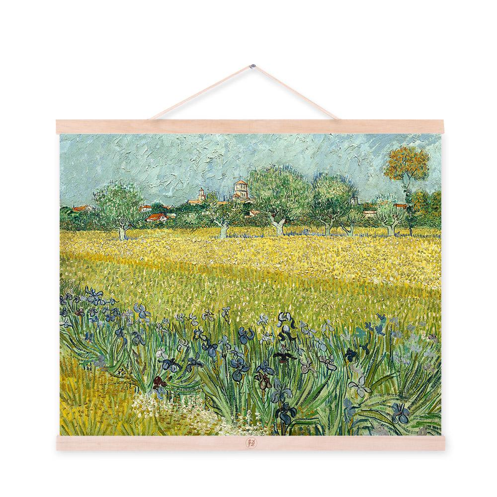 Vincent Van Gogh Yellow Modern Abstract Field Poster Prints Original Flowers Landscape Canvas Oil Paintings Home Wall Art Gifts