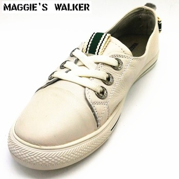 Maggie's Walker Women Genuine Leather Casual Shoes Flat Shoes Shallow-mouth Bow-tie Summer Shoes  Size 35~39