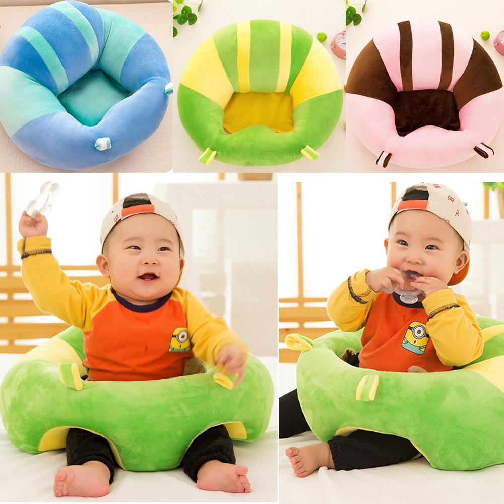 2017 Newest Colorful Baby Support Seat Learn sit Soft Chair Cushion Sofa Plush Pillow Toys