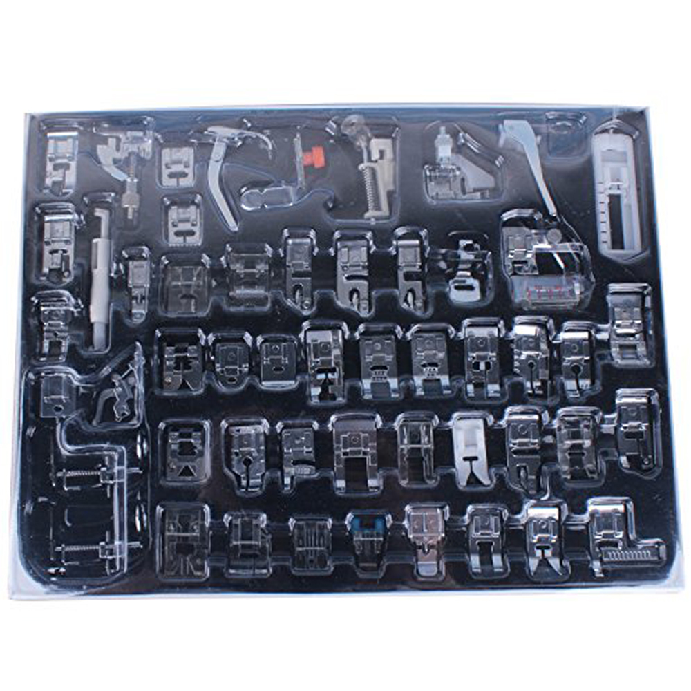 52pcs Domestic Sewing Machine Braiding Blind Stitch Darning Presser Foot Feet Kit Set For Brother Singer Janome