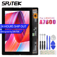 Srjtek New 10.1inch For Lenovo A10 70 A7600 LCD Display With Touch Full Assembly Panel Repair Parts BP101WX1 210 Tablet PC