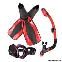Marka Profesyonel Dalış Maskesi Seti Yetişkin Esnek Konfor Yüzme Yüzgeçleri Kuru şnorkel Solunum Tüpü Dalgıç Uzun Dalış Yüzgeçleri