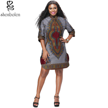 Shenbolen New Fashion African Clothes For Women Dashiki Coat Cotton Ankara Top Traditional Costume