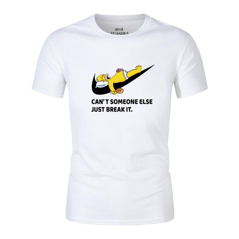 2018 Estate Simpson è Divertente Design Di Stampa T-shirt Hip Hop Camicia Di Marca Da Uomo O-collo A Maniche Corte T-shirt Homme Camisetas