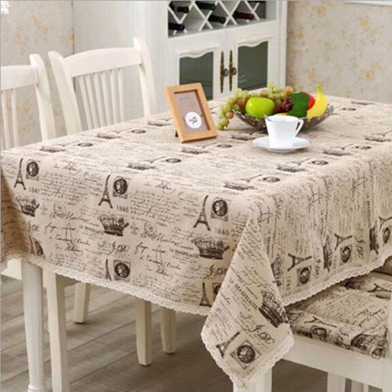 Cartoon chèvre Imprimé Nappe décorative élégante table cloth linen cover