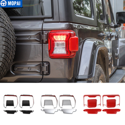 MOPAI Car Stickers for Jeep Wrangler ABS Car Rear Tail Light Lamp Decoration Cover for Jeep Wrangler JL 2018 Up Car Accessories