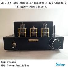 Tube Amplifier Wireless Bluetooth 4.2 Single-ended Class A  Desktop 6N2 Preamp 6P1 Power Stage 2×3.5W APT-X HIFI Audio 110/220V