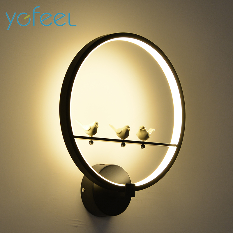 Wall Lamps Beside Bed : [YGFEEL] 18W LED Wall Lamp Modern Creative Bedroom Beside Wall Light Indoor Living Room Dining ...