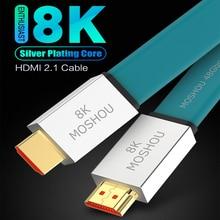Cable de HDMI 2,1 entusiasta Ultra HD (UHD) 8K @ 120Hz Cable de HDMI 2,1 48Gbs macho a macho Cable de Audio y Video 1M 2M 5M 10M 15M HDR 4:4:4