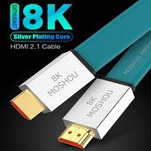 חובב HDMI תואם 2.1 כבל במיוחד HD 8K @ 120Hz כבל 48Gbs זכר לזכר אודיו וידאו כבל HDR 4:4:4