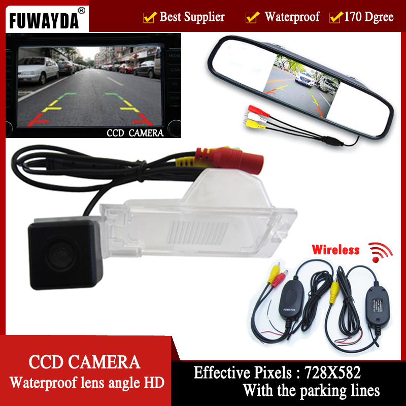 Fuwayda Wireless Color Ccd Car Rear View Backup Camera For Ford Edge Escape Mercury Mariner   Inch Rear View Mirror Monitor