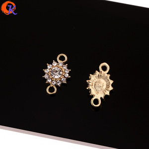 Image 2 - Cordial Design 100Pcs 10*15MM Jewelry Accessories/DIY Jewelry Making/Rhinestone Earring Connectors/Hand Made/Earring Findings