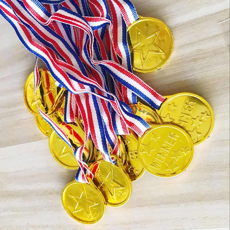 20 шт Золотой призер награда, медали для спортивных соревнований соответствует вечерние для вечеринки по случаю Дня Рождения украшения Детский подарок для малышей