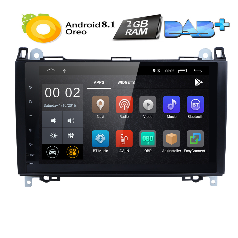 US $227 19 29% OFF|9Inch Android8 1 Car NO DVD Radio for  Mercedes/Benz/Sprinter/B200/W245/B170/W209/W169 VW Crafter with BT 4GWifi  GPS Radio 2GRAM-in