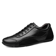New Quality Leather Men Black Shoes Fashion Style Genuine Leather Men Shoes Comfortable Brand Men Casual Shoes Plus Size 28-68