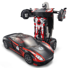 remote control one key demonstration robot and car tt682 2.4G One key Deformation Voice rc car remote control toys for kid gifts