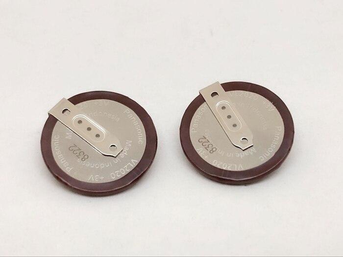 2 pçs/lote Para PANASONIC VL2020 3 V Berloques Chave Do Carro Recarregável 90 graus filé botão Bateria de célula tipo moeda de lítio Para BMW VL 2020