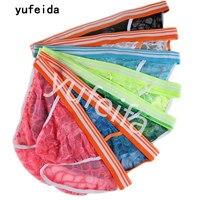YUFEIDA 7PCS/Lot Men's Briefs Underwear Lace Men's Breathable Sissy Boy Underwear Cuecas Sex Product Erotic Jockstrap Briefs