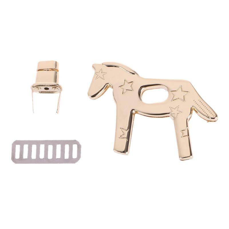Horse Shape Metal Clasp Turn Lock Twist Locks For DIY Handbag Bag Purse Hardware :6.56x4.81cm