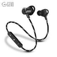 Gevo gv18-bt sweatproof magnético sem fio bluetooth fone de ouvido estéreo orelha-gancho esporte fone de ouvido de cancelamento de ruído fones de ouvido com microfone para Bluetooth o telefone para iphone 5s 6 6plus