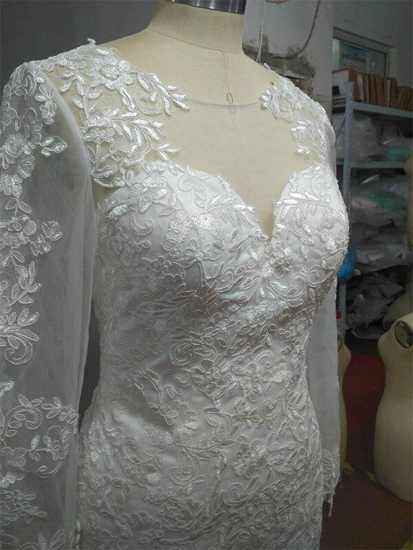 wuzhiyi Cap Sleeve wedding dress Bridal Dresses Robe De Mariage Applique Long Mermaid Wedding Dress 2018