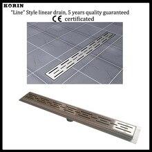 1200 мм «Линии» Стиль Нержавеющей Стали 304 Линейный Душ Drain, вертикальный Душ Drain с фланцем, долго трапных