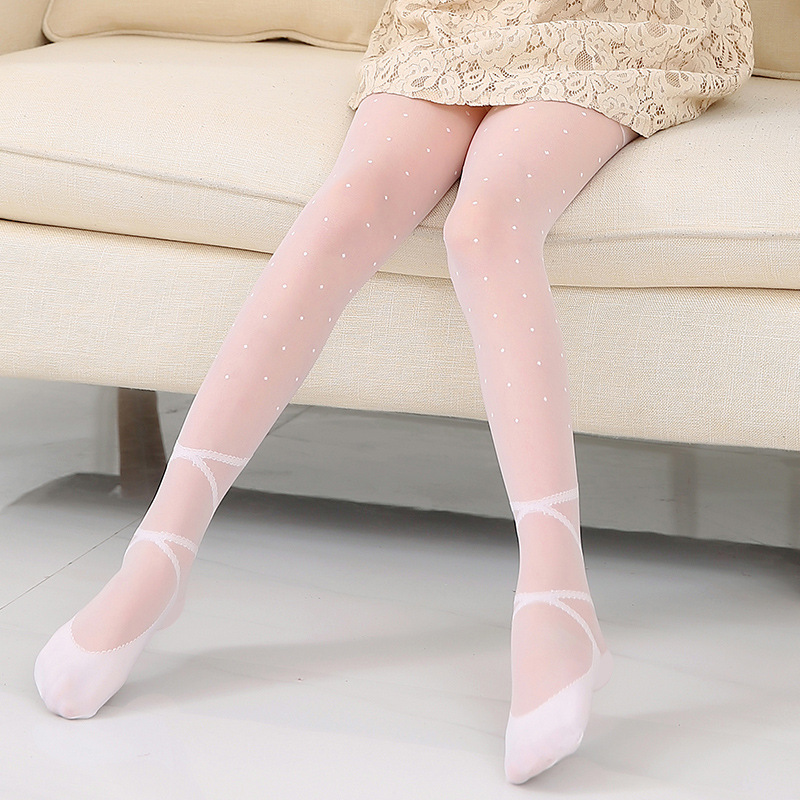 Girls Kids Children Bow Frilly Ruffle Dance Warm Footless Tights Stockings 2-8yr