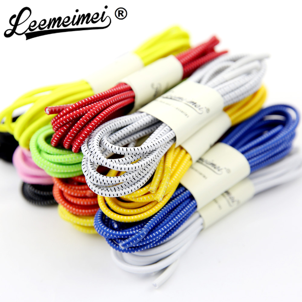16 Color Fashion Unisex Women Men Athletic Running Lock Shoelaces Elastic Shoe Lace All Sneakers Fit Strap