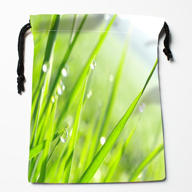 Custom Grass Drawstring Bags Custom Printed Gift Bags More Size 27x35cm Compression Type Bags