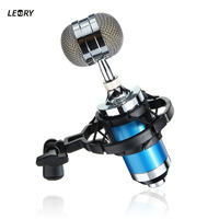 LEORY Professional BM 3000 Stadio Condenser Sound Recording Microphone With Shock Stand Pop Filter Studio Sound