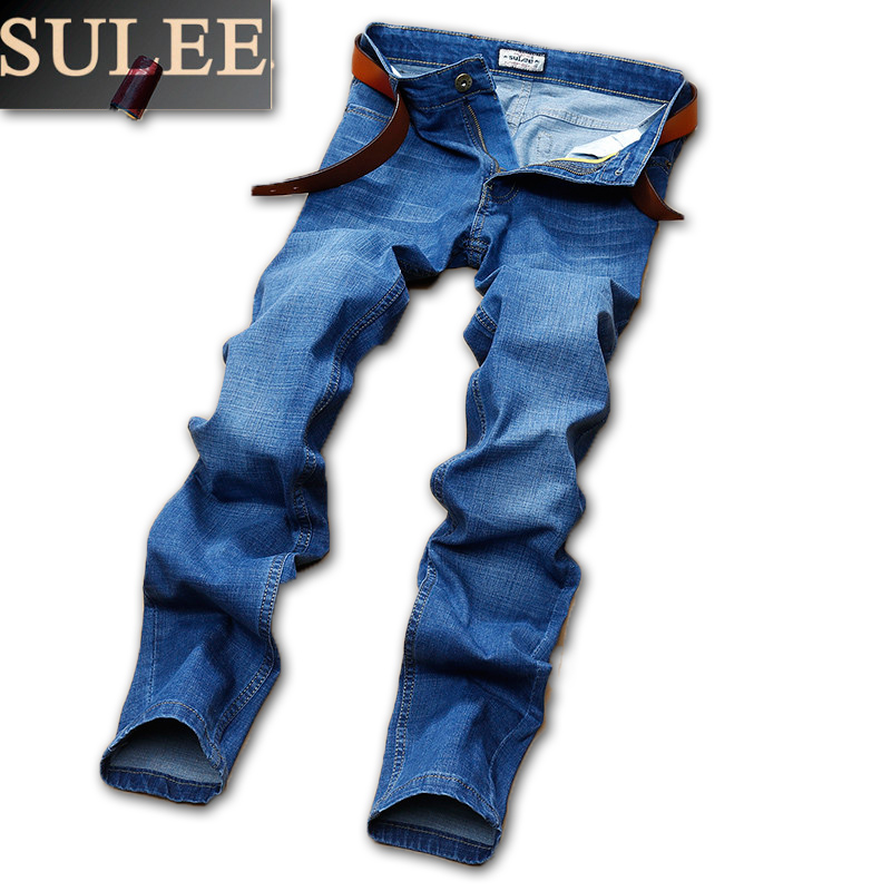 SuLEE Brand Mens Brand Jeans men  Regular fit  jeans denim Causal pants Washed Blue jeans for men all seasons famous brand jeans men straight denim classic blue jeans pants regular fit high quality plus size 28 to 40 sulee