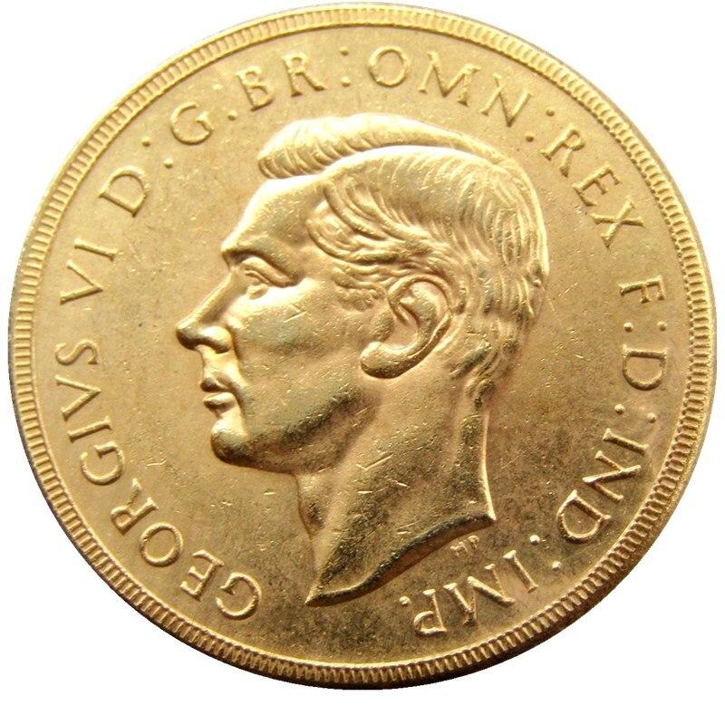 Nadir 1937 BÖYÜK BRITAIN KING GEORGE VI PROOF GOLD 2 funt - Ev dekoru - Fotoqrafiya 1