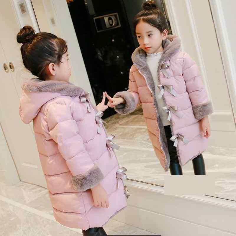 أطفال أسفل معاطف 2018 سترة شتوية معطف سمكا الدافئة موضة جديدة للأطفال كبيرة الفتيات الشتاء سترة Doudoune Fille 10 12