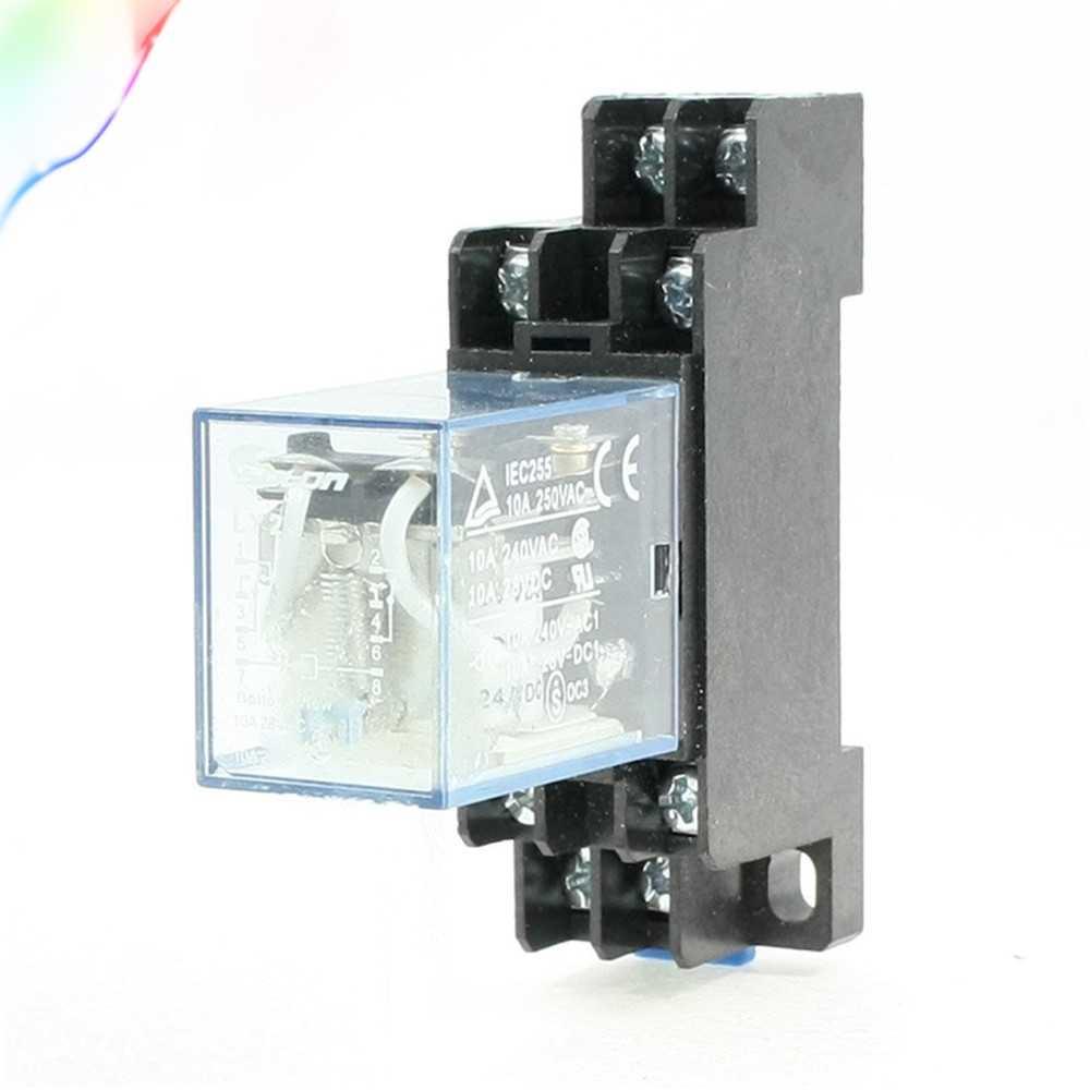 MY2J HH52P AC 12 24 110 220 V Coil General Purpose Power Relay 8Pin 10A 240VAC/28VDC w Sockel
