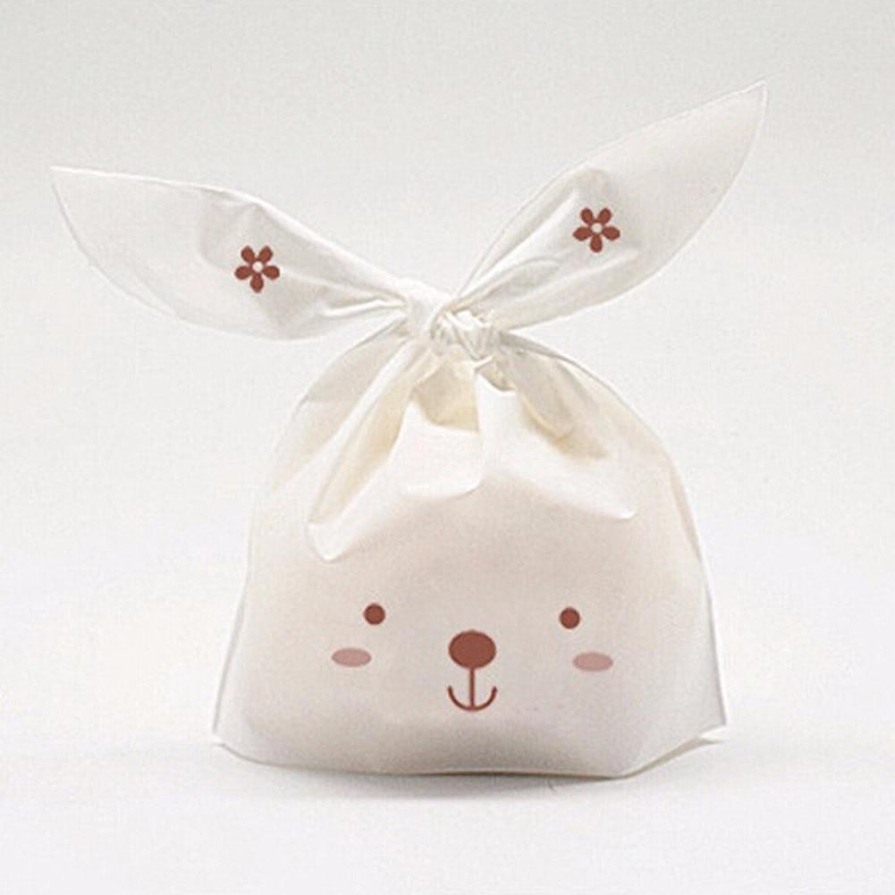 50pcs/lot Wedding Cake Box Cute Plastic Bag Gift Bag Rabbit Ear ...