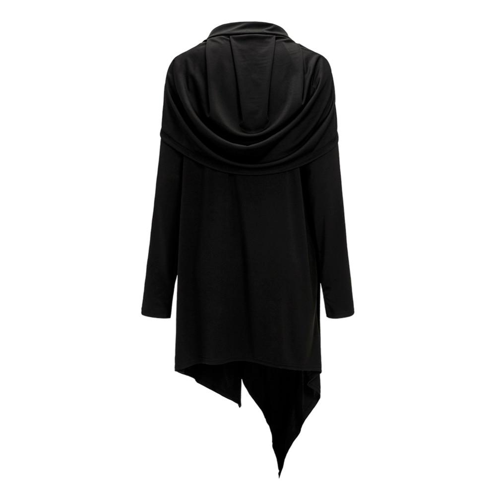 e1fb0693fad jocelyn katrina brand Women Hooded Tunic Dress Fashion Winter Casual Female  Irregular Black Loose Long Sleeve Dress-in Dresses from Women's Clothing on  ...