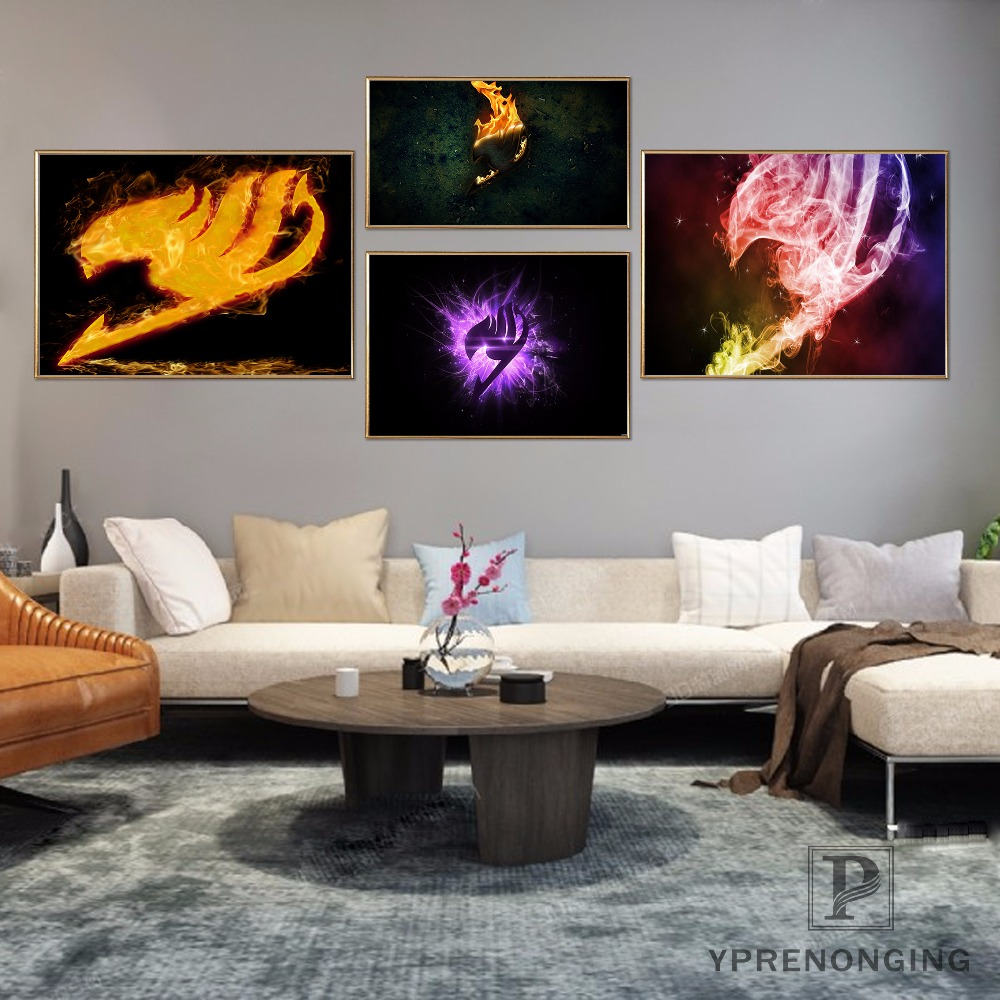 Custom Fairy Tail <font><b>Logo</b></font> <font><b>Poster</b></font> Art Home Decor Canvas Printing Silk Fabric Print Wall <font><b>Poster</b></font> No Frame 180317@10 image