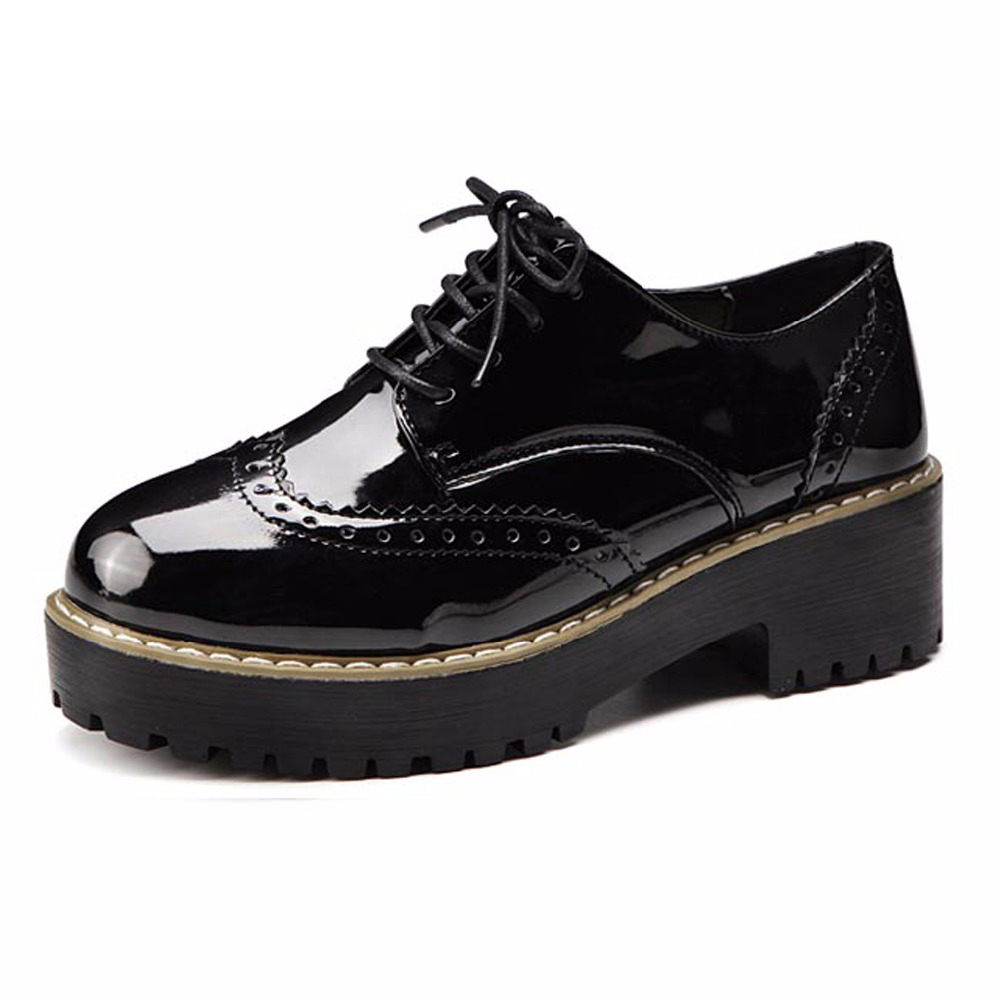 Us10 Med Petit Caoutchouc Femmes Taille Grand 31 Casual Noir Femme Britannique Feminino Rond Sapato Chaussures Black Bout Talons Dames Pompe 44 Guvoosm gRqASxwcOO