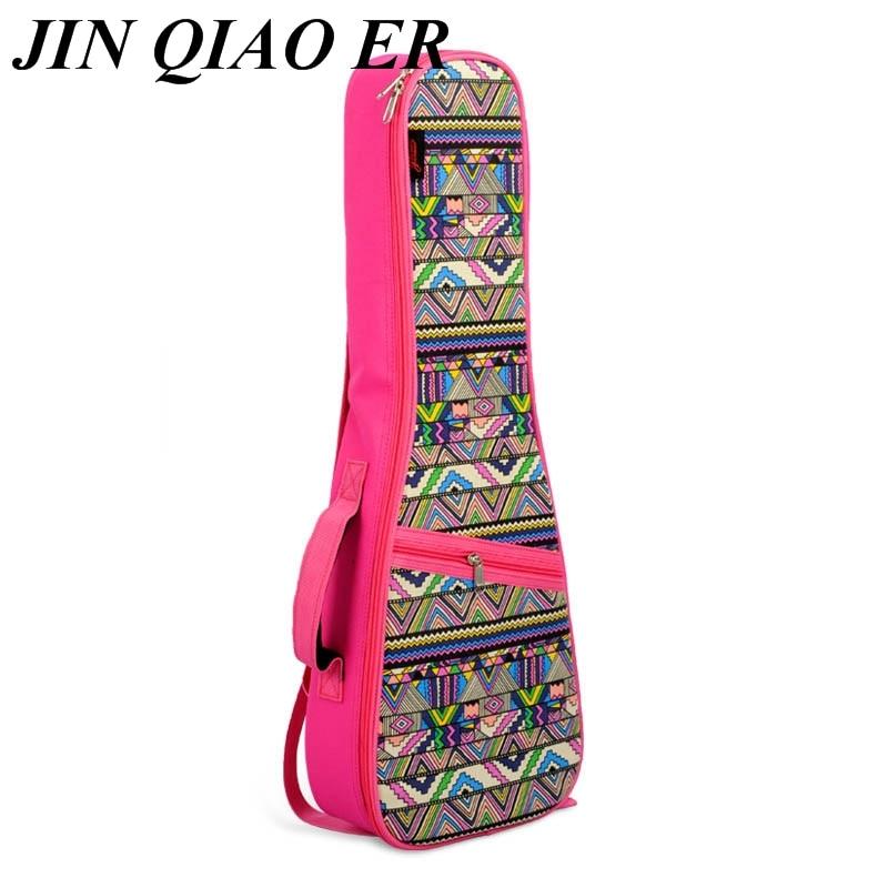 """21 """"23"""" 26 """"ukulele Tasche Baumwolle Gepolsterte Geometrische Gig Bag Gitarre Fall Musical Instruments Vier Hawaii Nationalen Wind Kleine Gitarre Tasche SorgfäLtige FäRbeprozesse"""