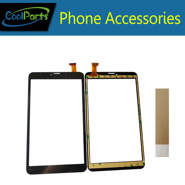 1PC/Lot High Quality 8.0 Inch For <font><b>Dexp</b></font> Ursus <font><b>N280</b></font> Tablet <font><b>Touch</b></font> Screen Digitizer Panel Glass With Tape Black Color image