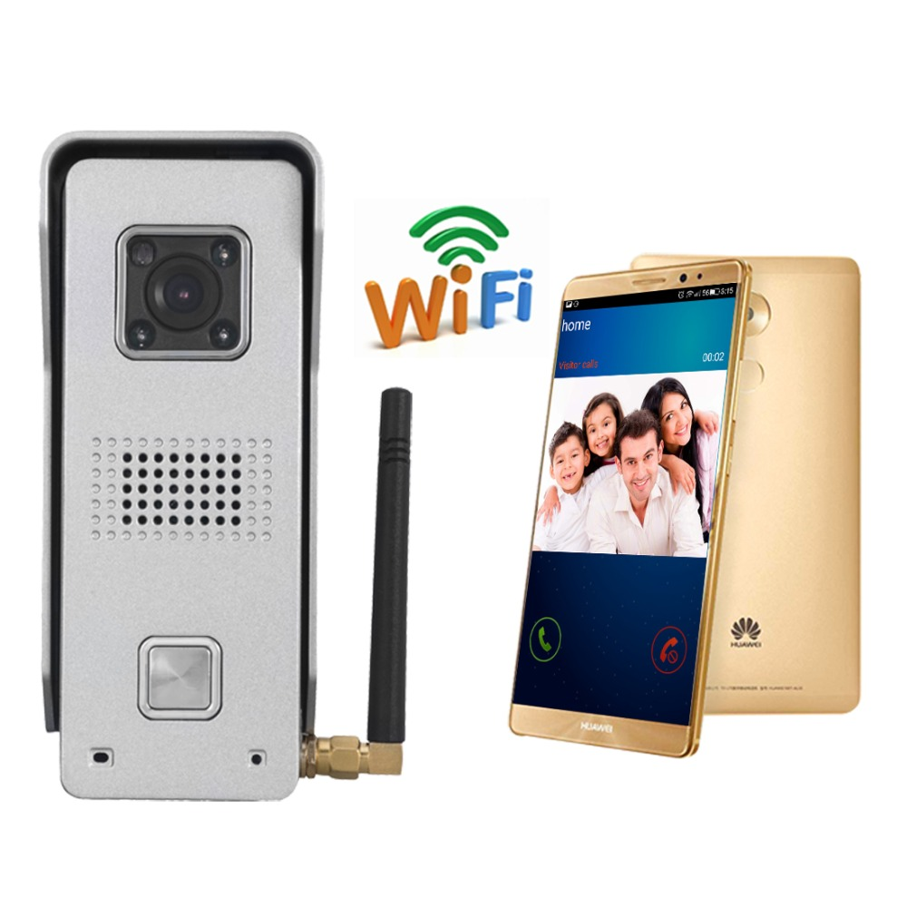 WiFi Wireless Video Door Bell  wireless video door phone ip door phone remote unlock Mobile phone APP entrance guard system bw wireless wifi door