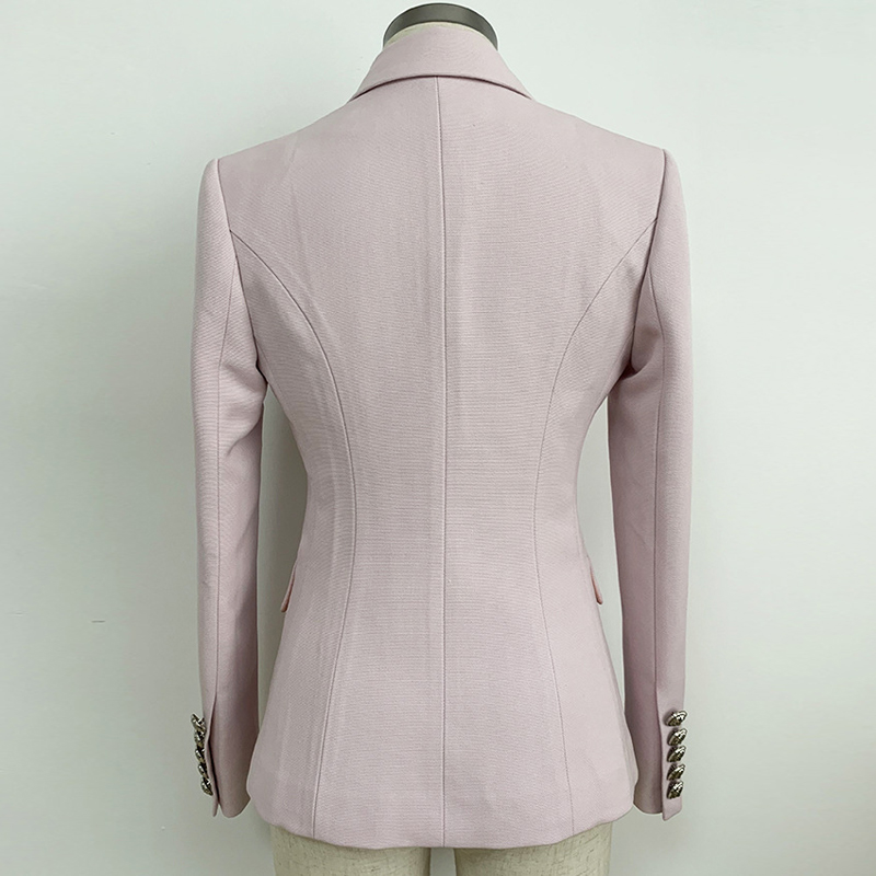 Newest 2019 Designer Women's Jacket Blazer Coat Classic Solid Double Breasted Long Sleeve Slim Female Office Blazers Outwear