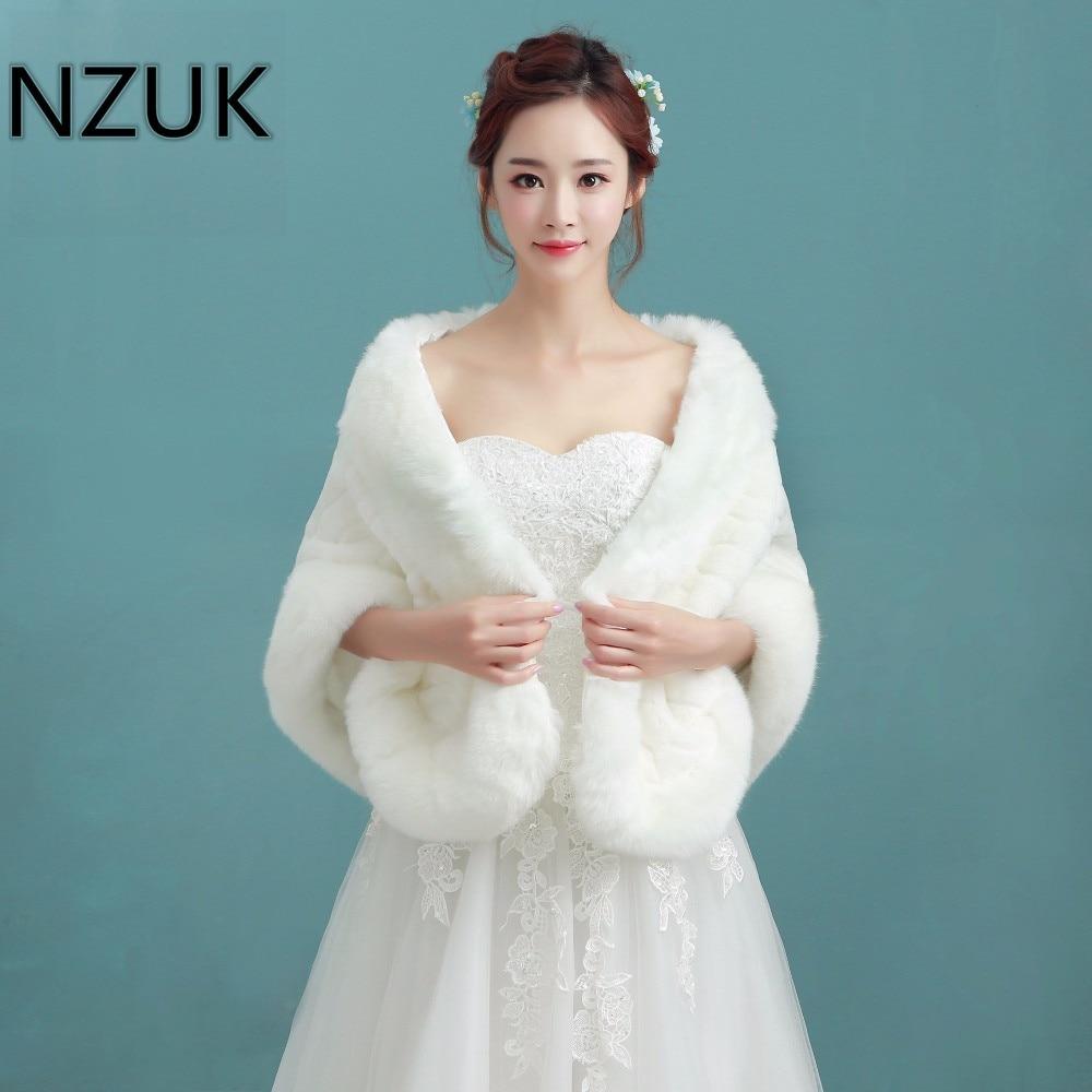 Aliexpress.com : Buy NZUK Winter Bridal Fur Wraps Wedding Bolero ...