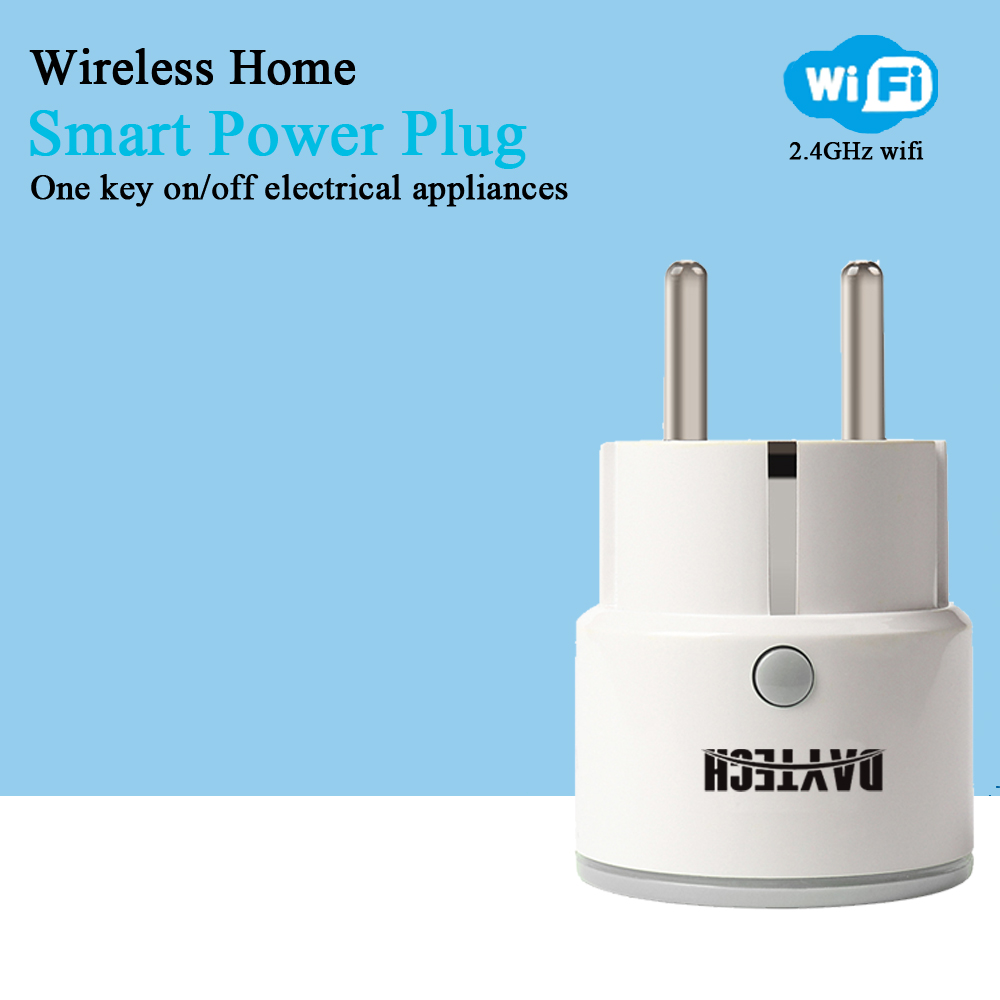 DAYTECH Smart Wi-Fi Socket Mini Smart Plug Outlet WiFi Plug APP Remote control home appliance electronics EU Adapter wi fi мост ubiquiti litebeam 5ac 23 lbe 5ac 23 eu
