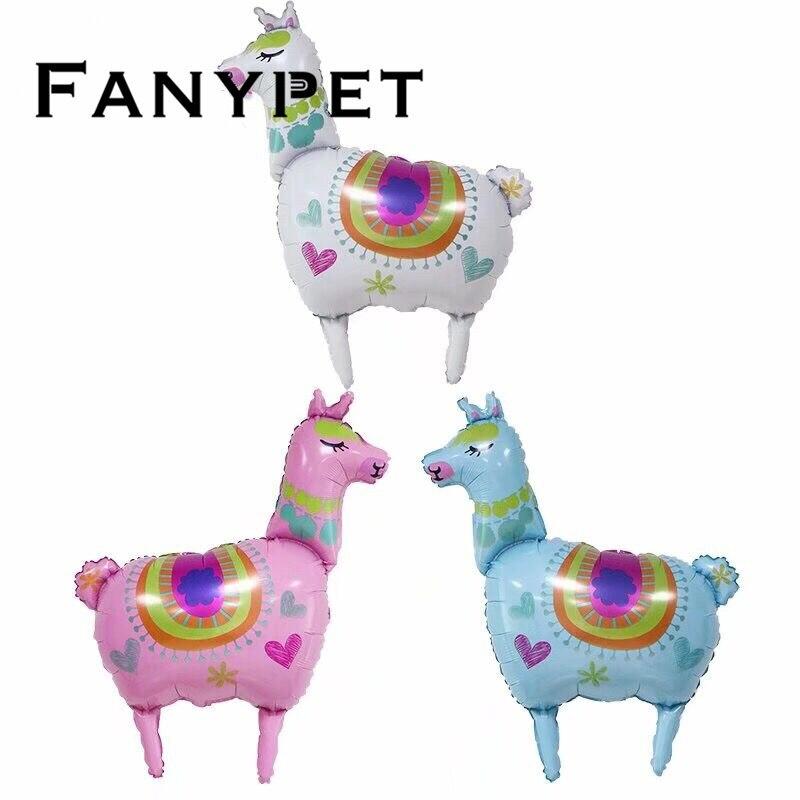 1 Pcs Eenhoorn Lama Folie Ballonnen Alpaca Folie Helium Ballon Baby Shower Verjaardag Wedding Party Eenhoorn Regenboog Decoratie