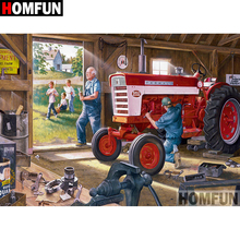 HOMFUN 5D DIY Diamond Painting Full Square/Round Drill Tractor landscape Embroidery Cross Stitch gift Home Decor Gift A08990 homfun 5d diy diamond painting full square round drill tractor scenery embroidery cross stitch gift home decor gift a09181