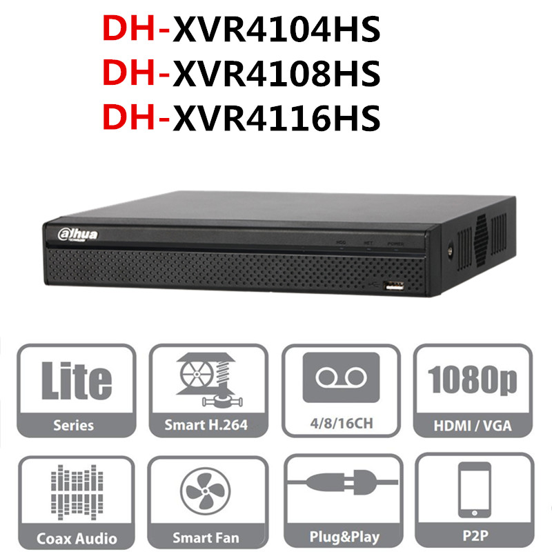 DH DVR video recorder XVR4104HS XVR4108HS XVR4116HS 4ch 8ch 16ch 1080P Support HDCVI/ AHD/TVI/CVBS/IP Camera
