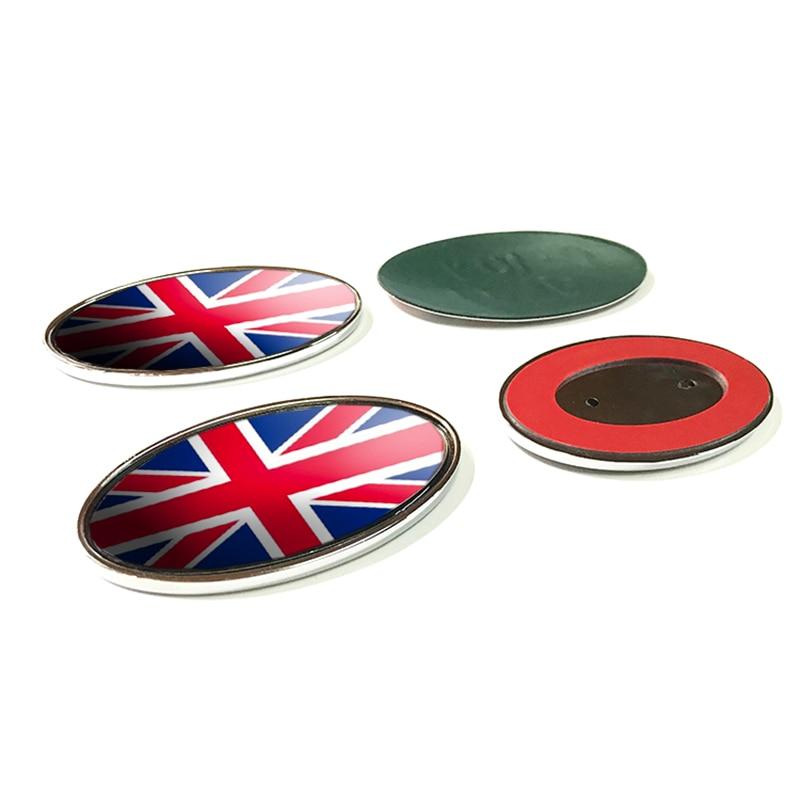 US $9 9 |Red Union Jack UK Flag Ellipse Emblem Badge Refitting Car Styling  Grille Rear Trunk Logo Sticker for Land Range Rover 85/105mm-in Emblems