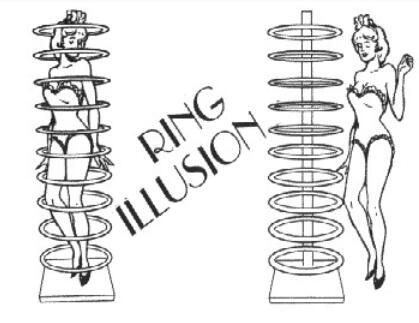 Anneau Illusion tours de Magie mentalisme scène Magie Gimmick accessoires peuvent être utilisés comme un effet de Transposition pour les magiciens professionnels