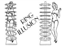 Ring Illusion Magic Tricks Mentalism Stage Magie Gimmick Props Can Be used as a Transposition Effect For Professional Magicians ring to wallet ring flight flying ring vanishing magic tricks close up illusion magica key bag gimmick props mentalism